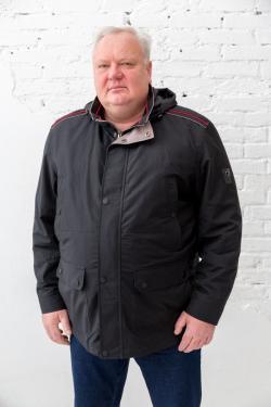 Мужская куртка-ветровка большого размера Galion, арт 25247 черная