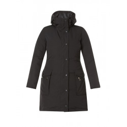 A32642 Удлиненная осенняя женская куртка большого размера с капюшоном Yesta (Нидерланды) купить в Москве