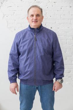 Мужская куртка-ветровка большого размера Galion, арт 25257 синий меланж