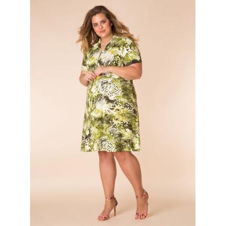 A29136 Женское платье большого размера Yesta