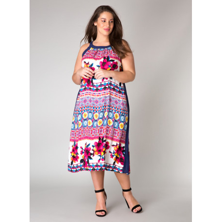 A31408 Женское яркое трикотажное платье-сарафан большого размера от Yesta (Нидерланды)