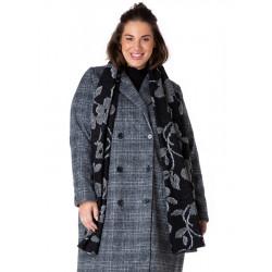 A32636 Двубортное женское пальто большого размера с коротким мягким ворсом Yesta (Нидерланды) купить в Москве