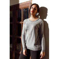 266/45 Модный женский джемпер большого размера с серебристым напылением BERNARDINI (Италия) купить в Москве