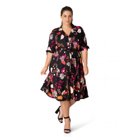 А39584 Женское платье большого размера Yesta