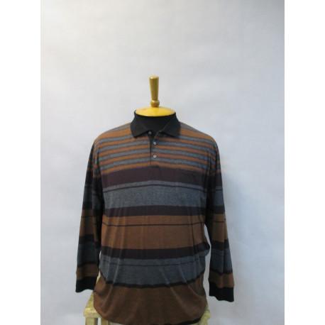 29515 Рубашка-поло мужская большого размера в клетку от Navigazione