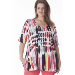 6569 saskato Блуза женская большого размера EXELLE
